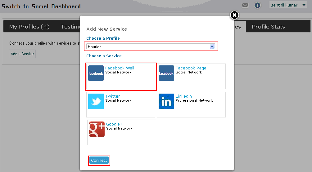 How to associate your Social Networking Profile to Revbay
